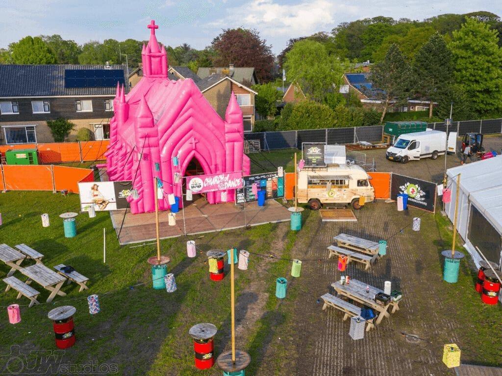 Feest locatie Roze kerk